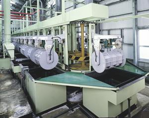全自動エレベータ式回転亜鉛メッキ装置