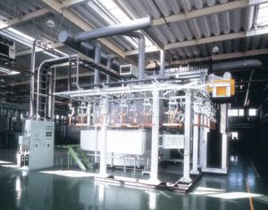 全自動エレベータ式静止亜鉛メッキ装置