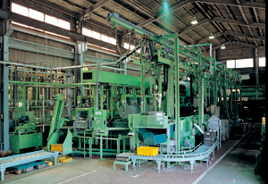 全自動エレベータ式回転亜鉛メッキ装置及び後処理装置